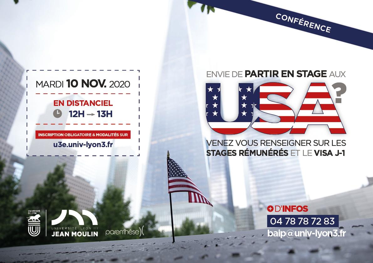 Conférence USA informations stages et visas