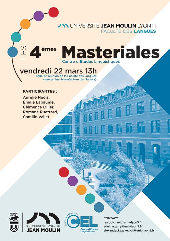 Affiche Masteriales #4
