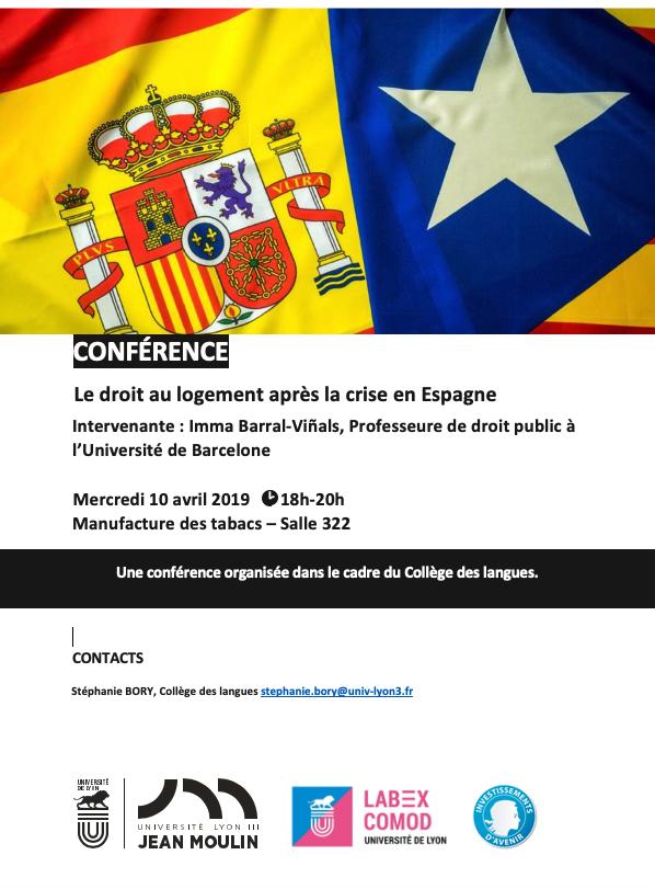 Affiche collège des langues Conférence 10 avril 2019