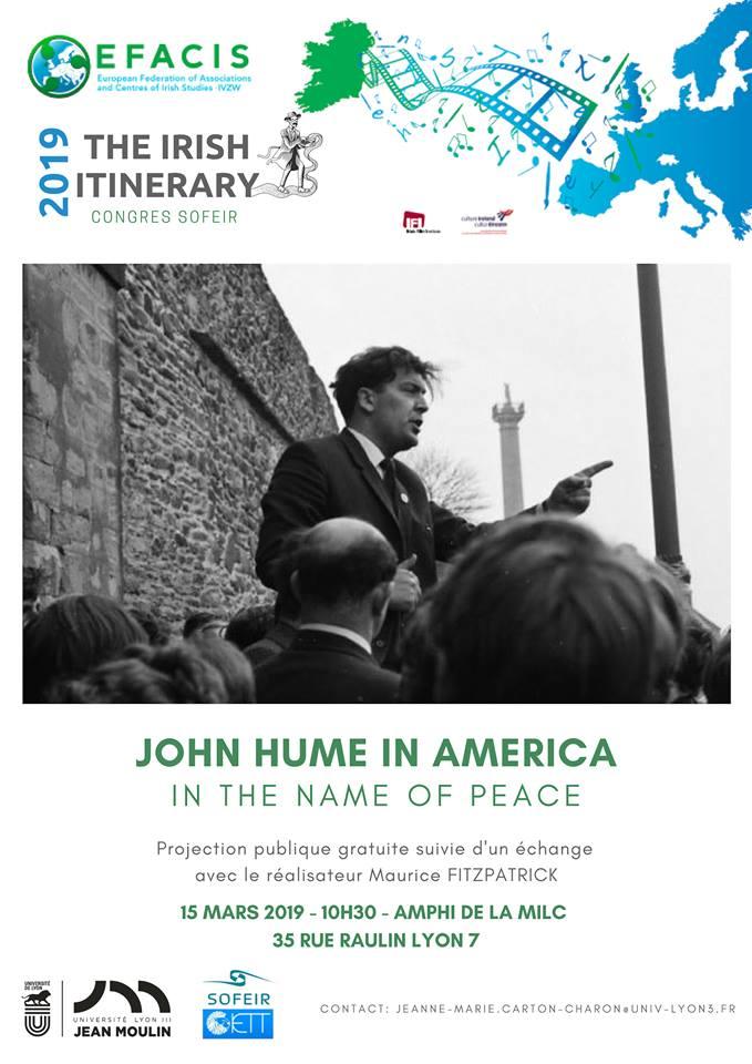 John Hume in America (affiche)