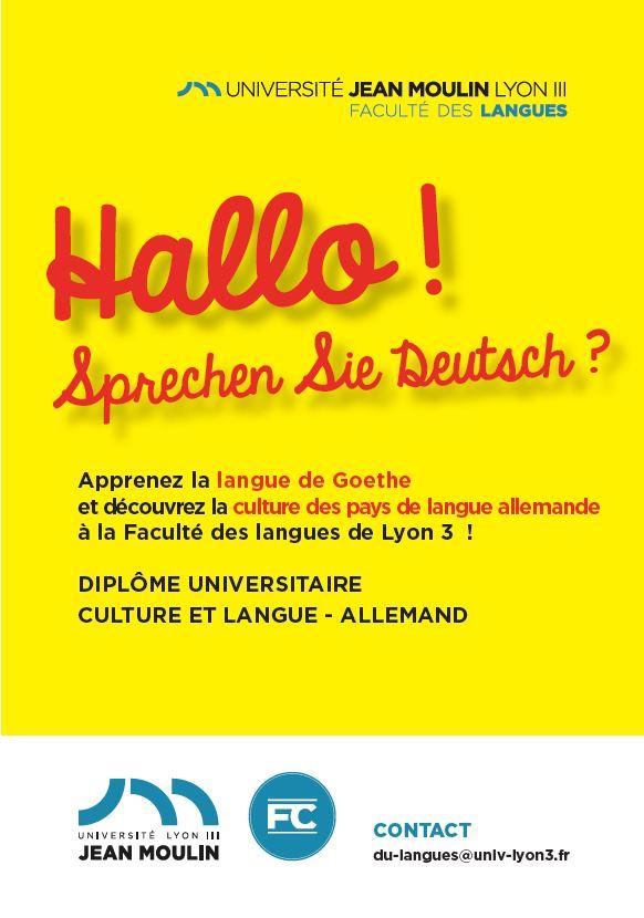 Flyer DU culture et langue - allemand