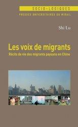 Couverture ouvrage Les voix de migrants